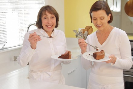 "Cooking with Didi Conn, known for her role as Frenchy in the movie, ""Grease"" takes on new meaning in her recently renovated kitchen.  Pictured with her private chef and mentor Viviane."