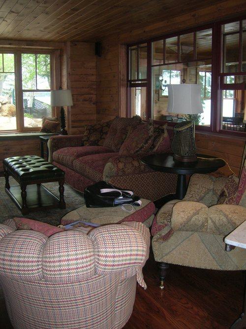 Rustic Living Room — Vintage House Design 716.708.1140
