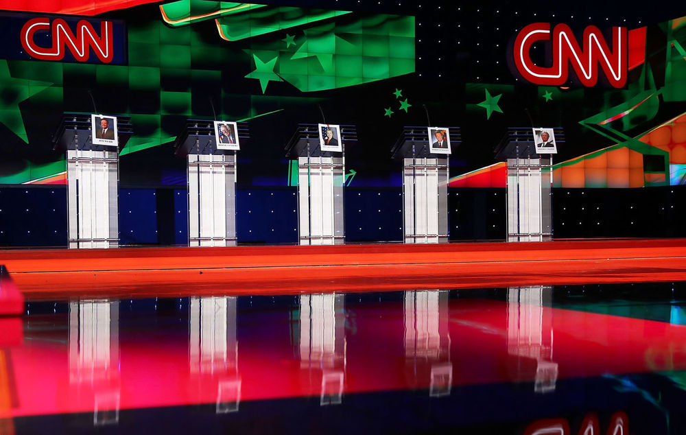 Lessig will not be on stage at CNN's debate. (Joe Raedle/Getty