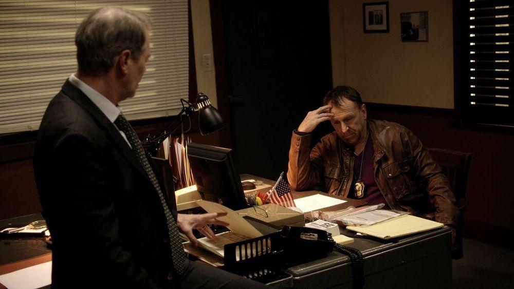 Steve Buscemi and Colin Quinn in an episode of 'Cop Show.' (L Studios)