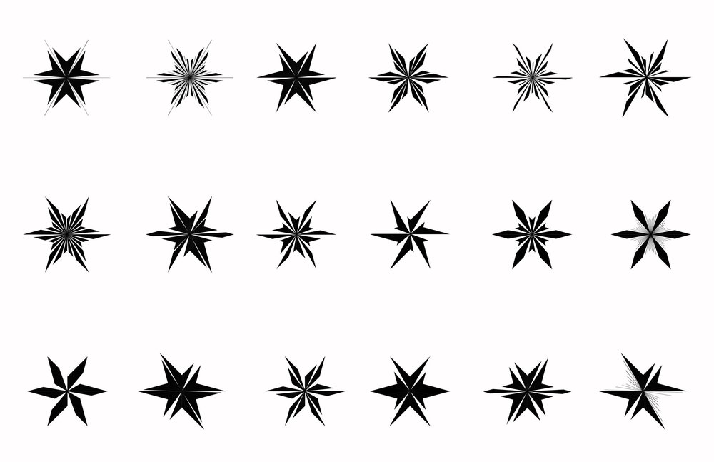 Studies were created of the Chicago star cut and divided into sections much like the city itself. From there they were converted into simple lines to not only imitate the season, which these were handed out but to show how design can pull us together as a community by having some lines remain connected.