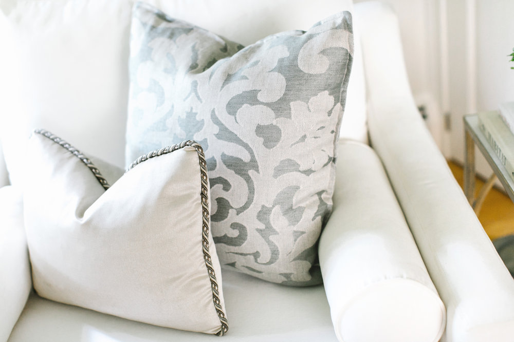 Designer fabrics give the finishing touches