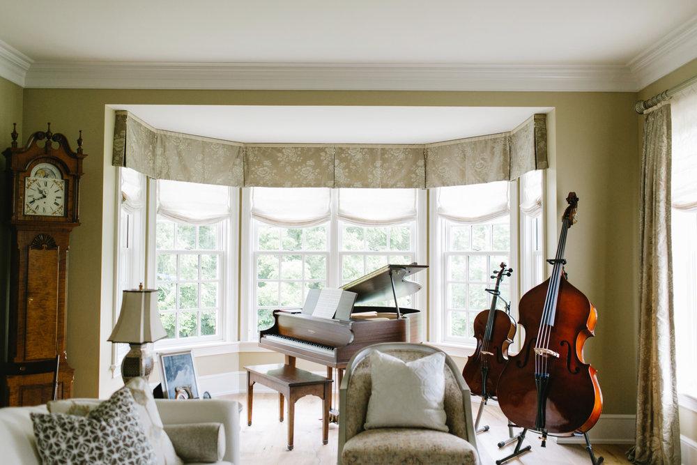 Fabrics bring softness to a formal living room