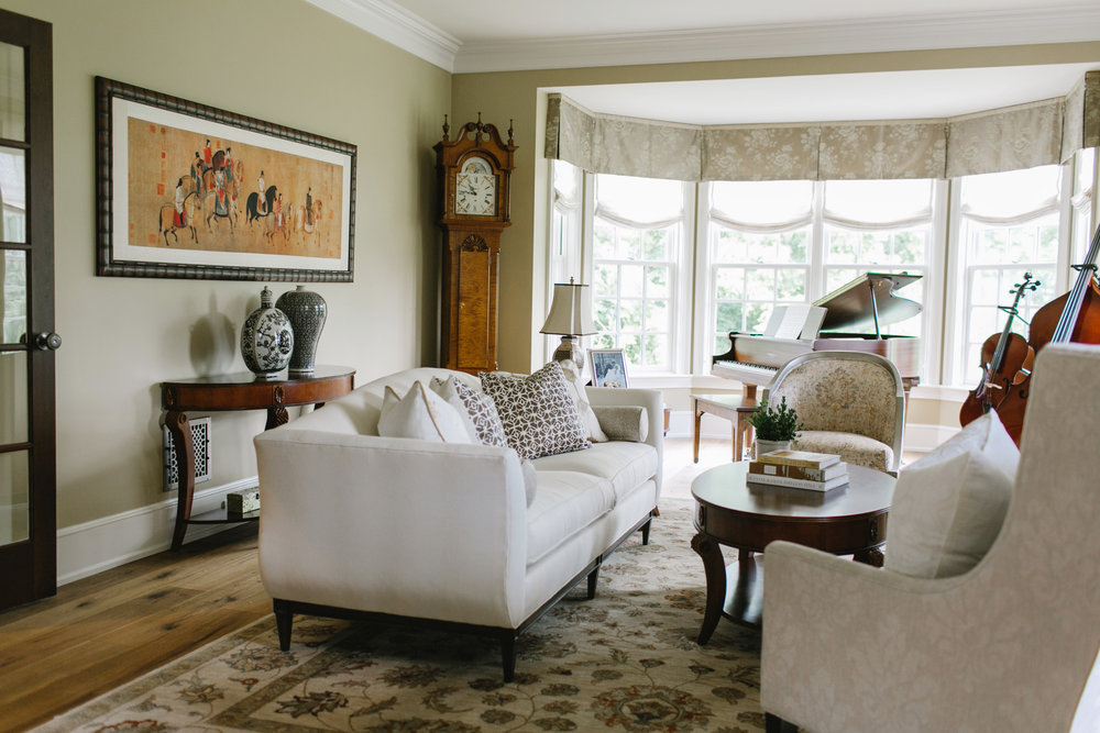 Accent pillows and window treatments