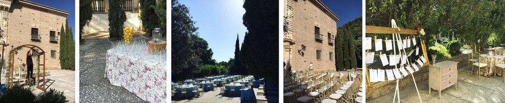 """como a decor linda deste casamento sendo montado em Granada, com Welcome Drink, arcos florais para cerimônia, ambientes com cara de """"casa"""""""