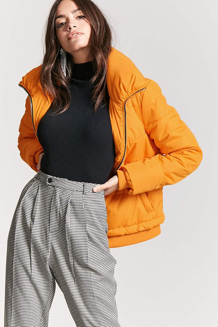 Forever 21, Zip-Up Puffer Jacket, $27.90