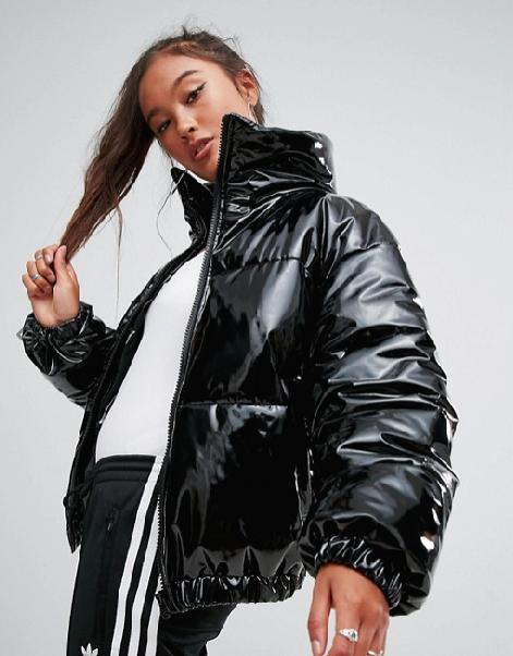 Asos,  High Shine Patent Puffer Jacket , $103
