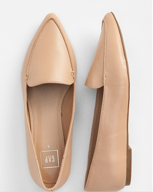 GAP Leather Poined Loafer -  5 Places to Snag the Perfect Loafers & Mules for Fall -Sabine Forever - sabineforever.png