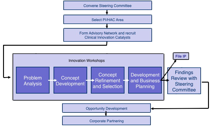 Catalyst program logic model. Click to enlarge.