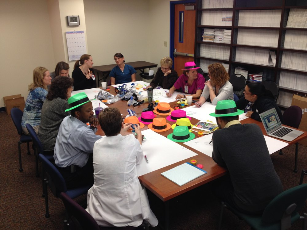 Participants in the 2014 catalyst program cycle at a workshop at Texas Children's Hospital