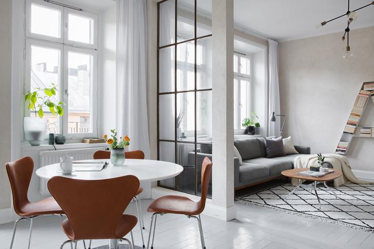 modern Scandinavian apartment: living room