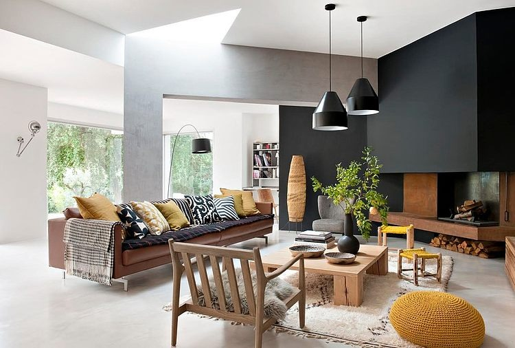 interior inspo black grey and yellow 14562 | 005 home 80s mlh design format 1000w