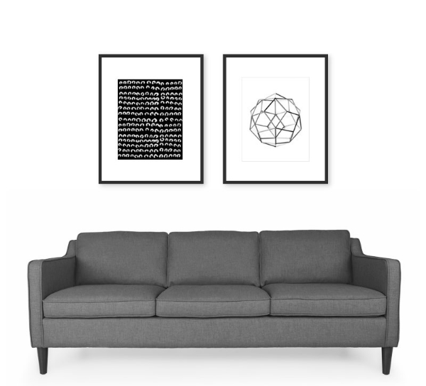 How to hang art in a linear pattern