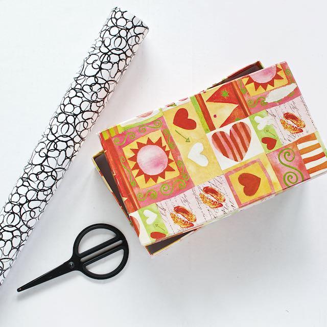 Contact paper box DIY