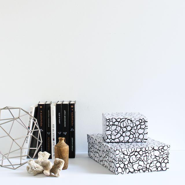 DIY Contact paper boxes