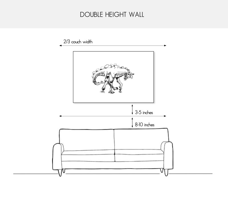 How to hang your art above the couch