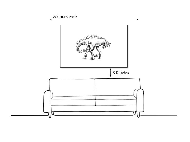 How to hang art above the couch or sofa