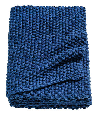 Dark blue knit throw $79.99  H&M