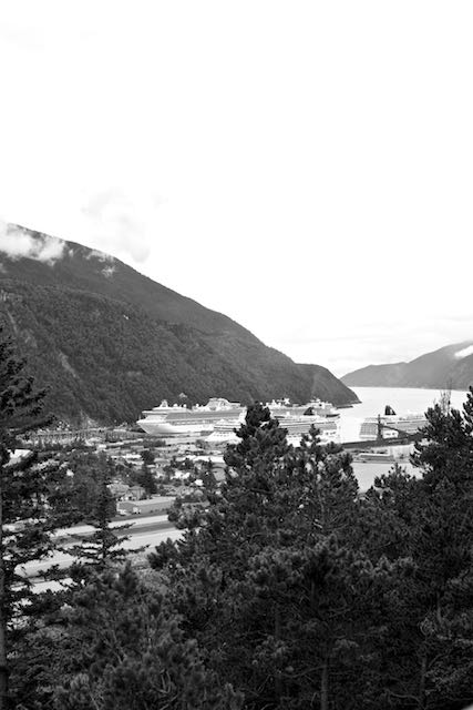 Skagway: view of the port