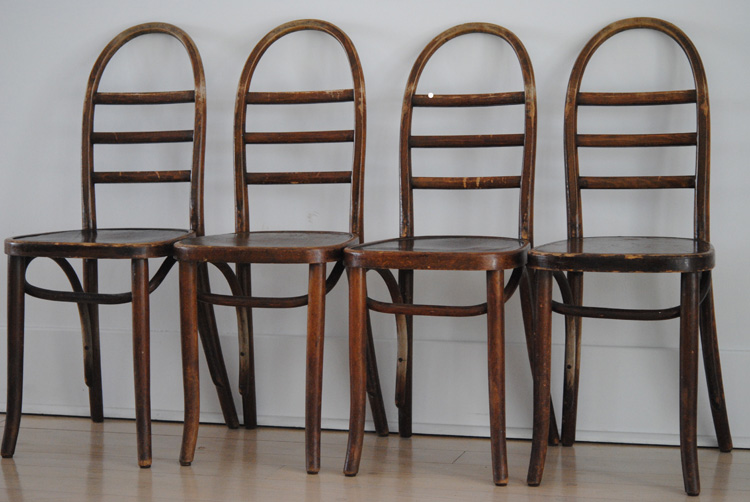 Mid century bentwood chairs
