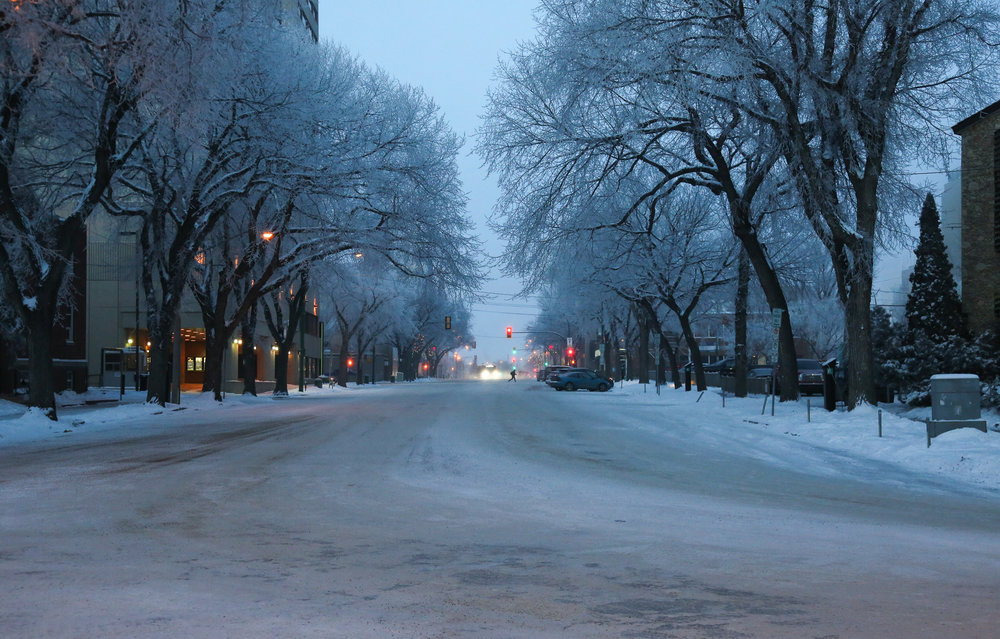 Early morning downtown Saskatoon-  20th street