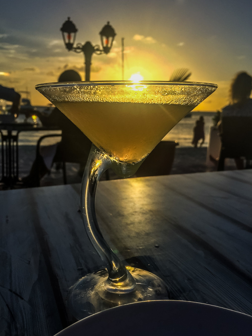 One of many sunset cocktails, at a one of Aruba's plethora of beach front restaurants - This particular one's name escapes me. But it was delicious and beautiful and perfect.