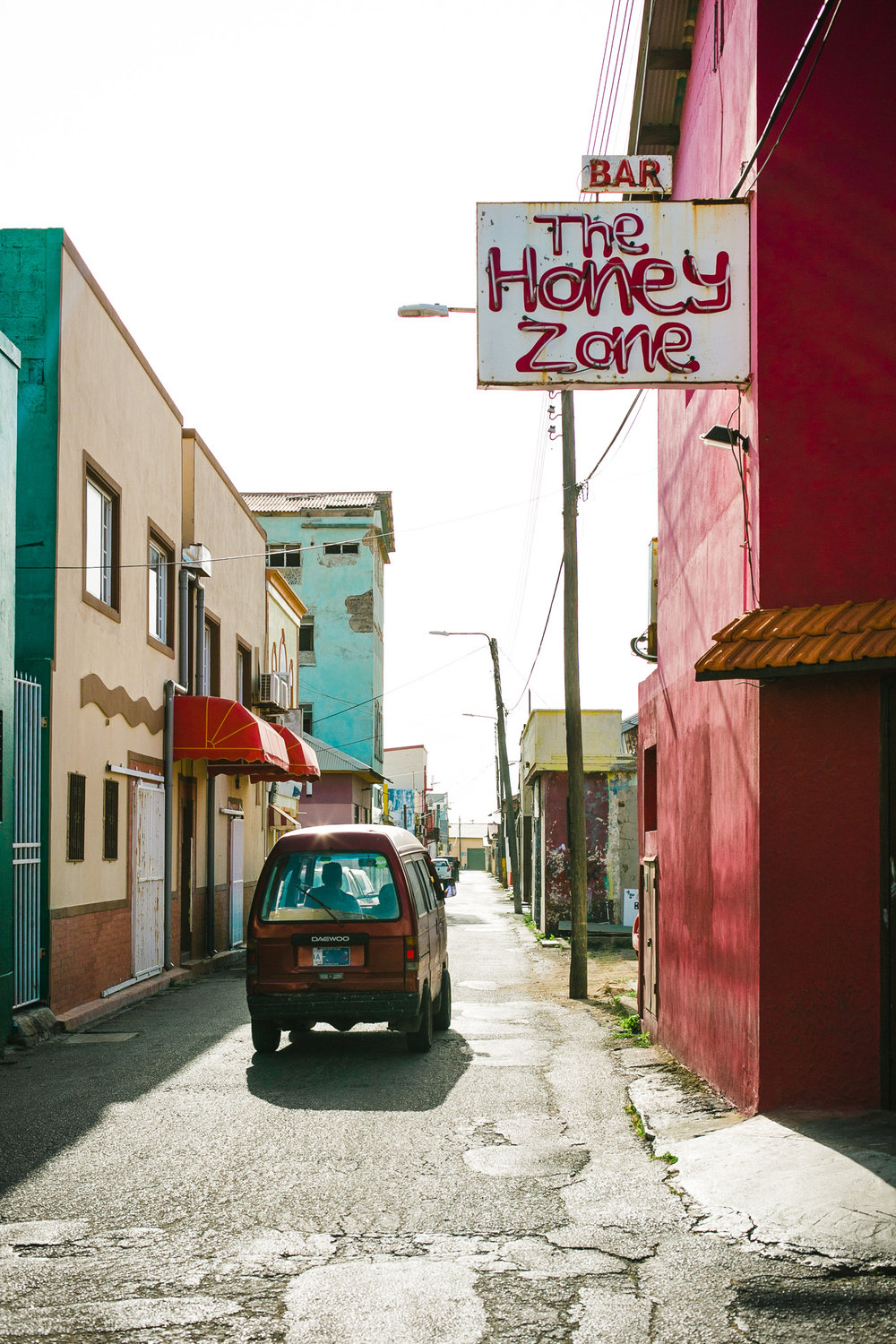 The Honey Zone in San Nicolas Aruba   I don't think they sell legit honey if ya know what I mean.