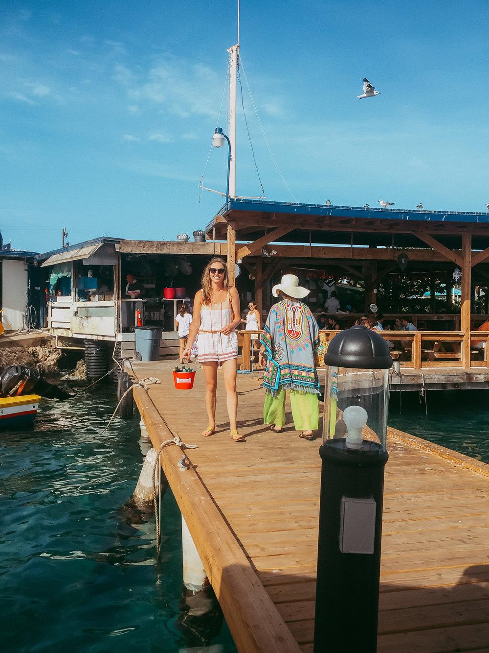 Another bucket of beer at Zee Rovers - Aruba