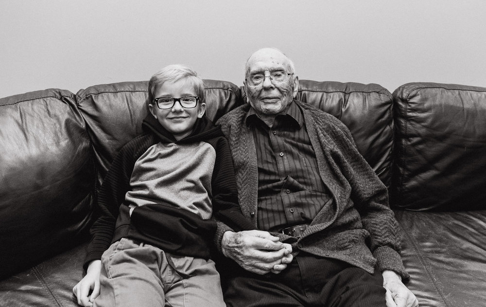 Jona has a special love for Grandpa Russ - feeling is mutual for sure  - And so he requested this personal photo op.   I love it.