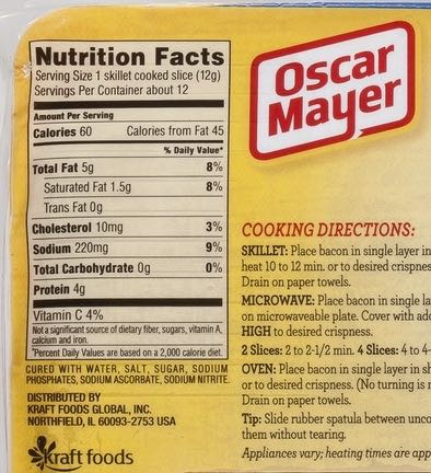 Hot dog packaging. On the ingredient list you can see Sodium Nitrite.