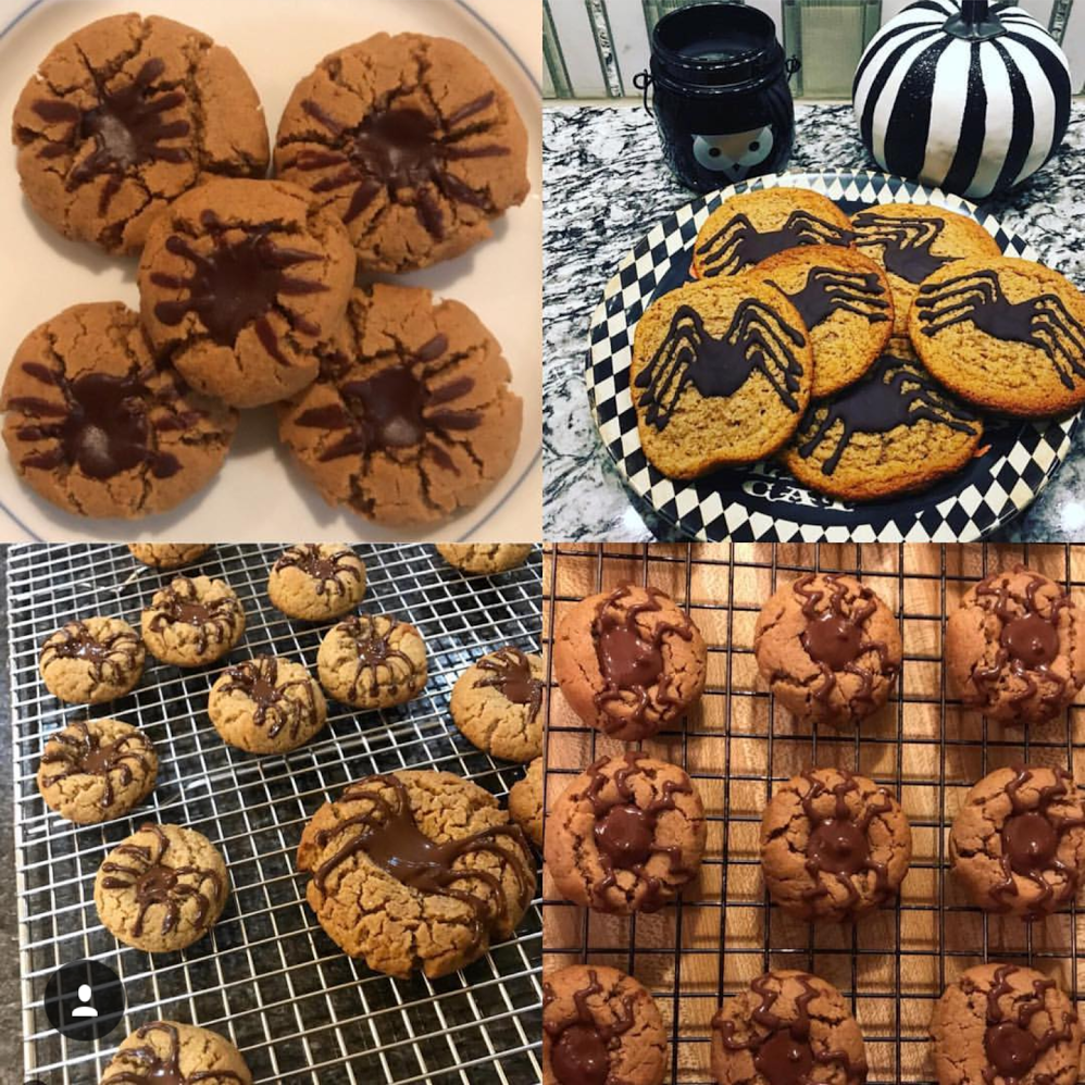 These spider cookies are so much fun! They are in the  Celebrations Cookbook  by  @againstallgrain