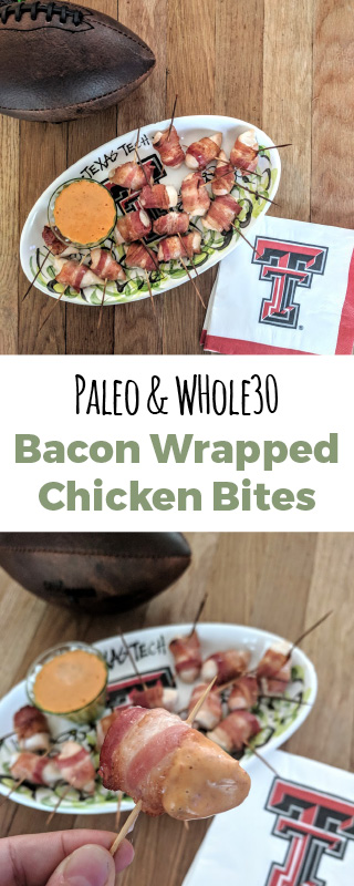 Bacon Wrapped Chicken Bites