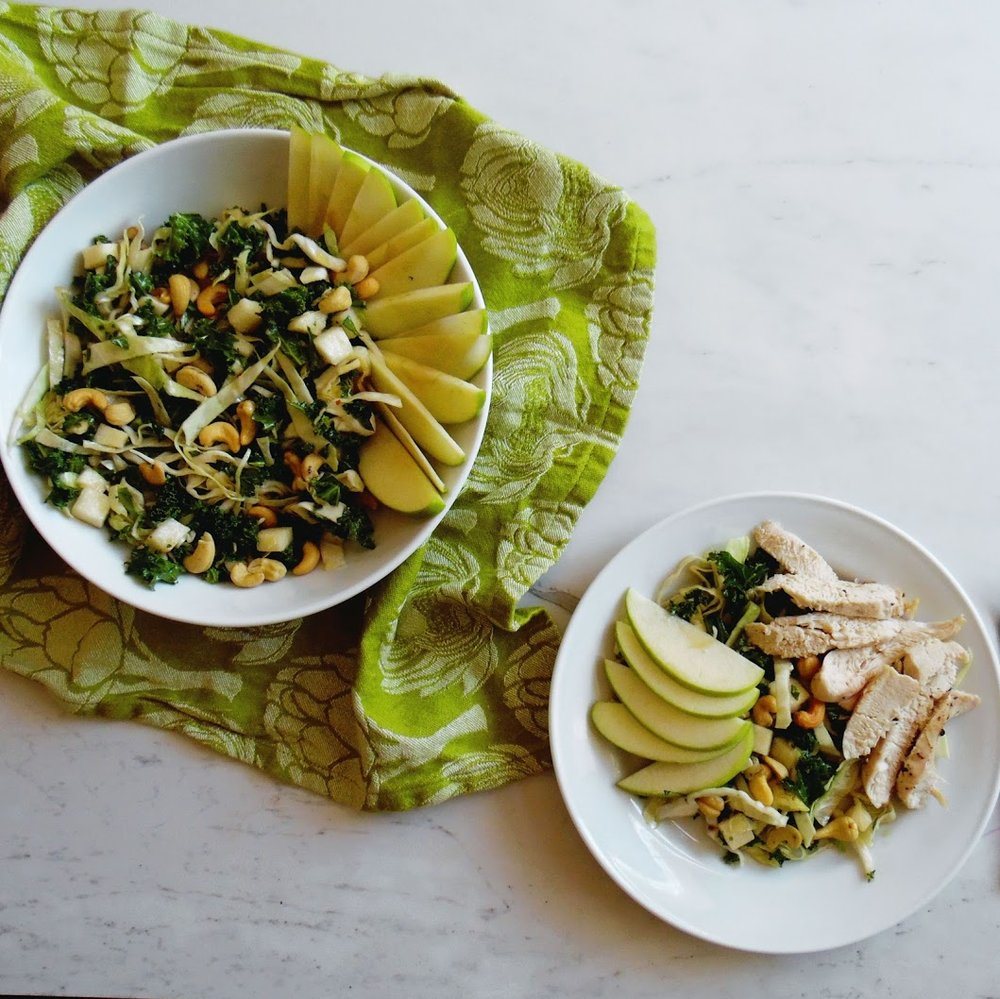 Cabbage and kale paleo summer salad