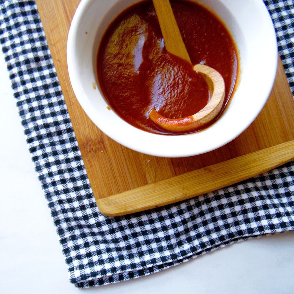 Homemade BBQ sauce that tastes like the south.