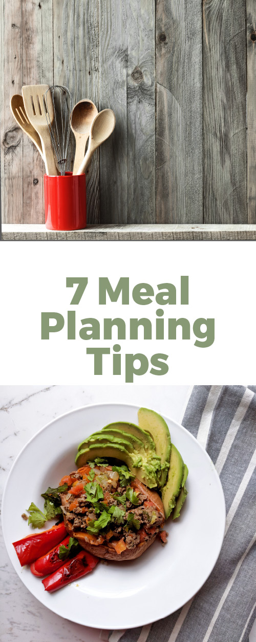 7 simple tips to make meal planning a breeze. Practical and easy meal planning tips for the busy mom.