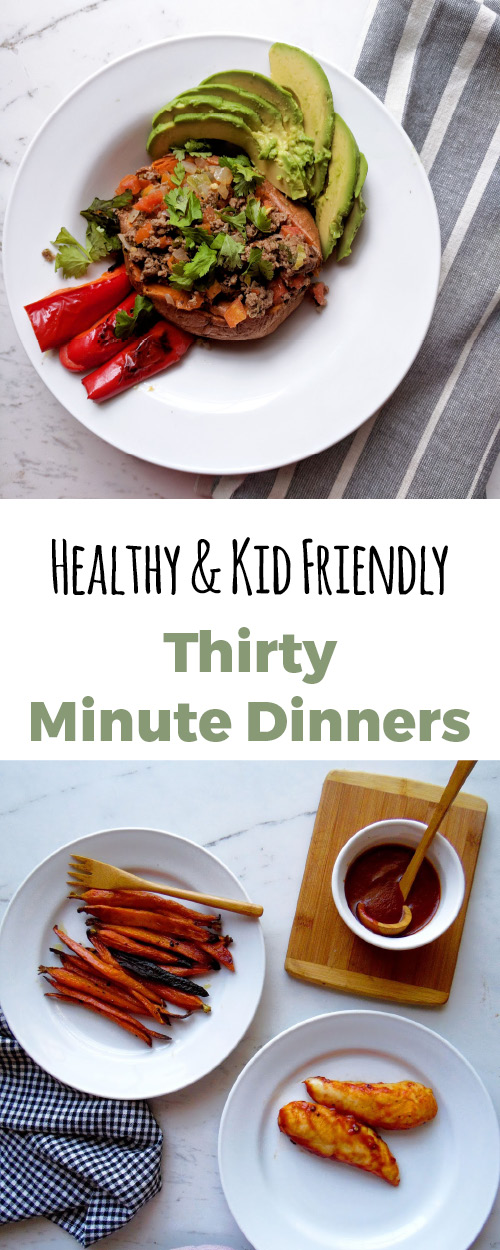 Quick and easy dinner recipes that I can make in thirty minutes. All recipes are gluten free and dairy free, mostly Paleo and some Whole30. Family friendly and dinners kids love.  My place for quick, easy, healthy dinner recipes.