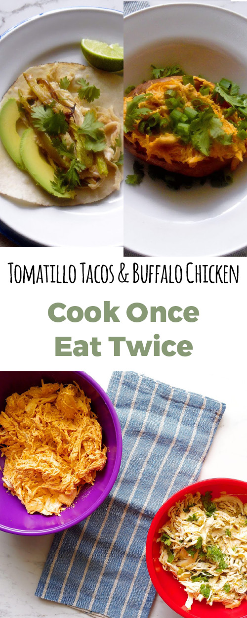 Cook dinner one time and eat two totally different meals! Not your average leftovers. These healthy and super simple recipes are #glutenfree and #dairyfree