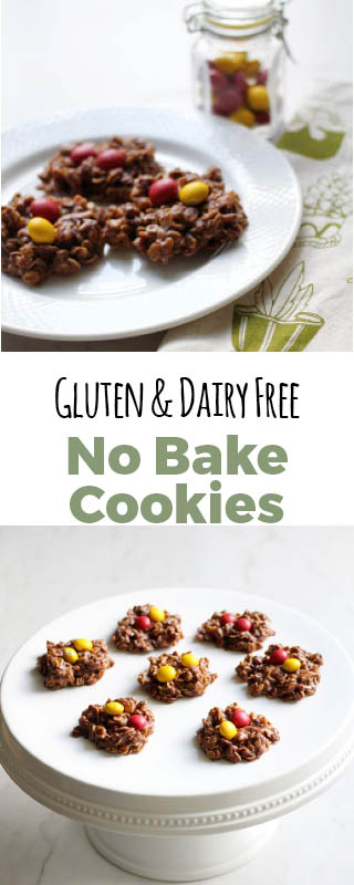 These no bake cookies are low in sugar and high in good fats. #dairyfree #glutenfree