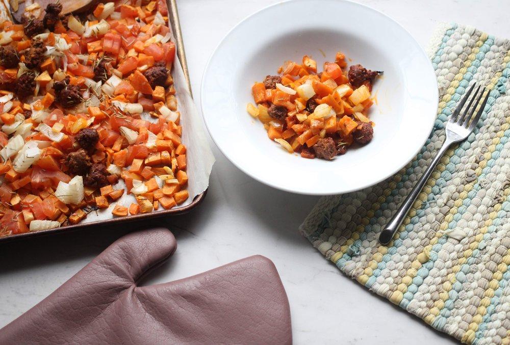 healthy sheet pan dinner
