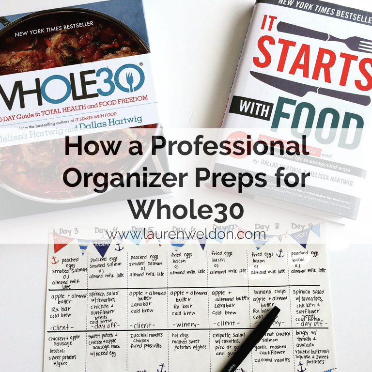 How a Professional Organizer Preps for Whole30