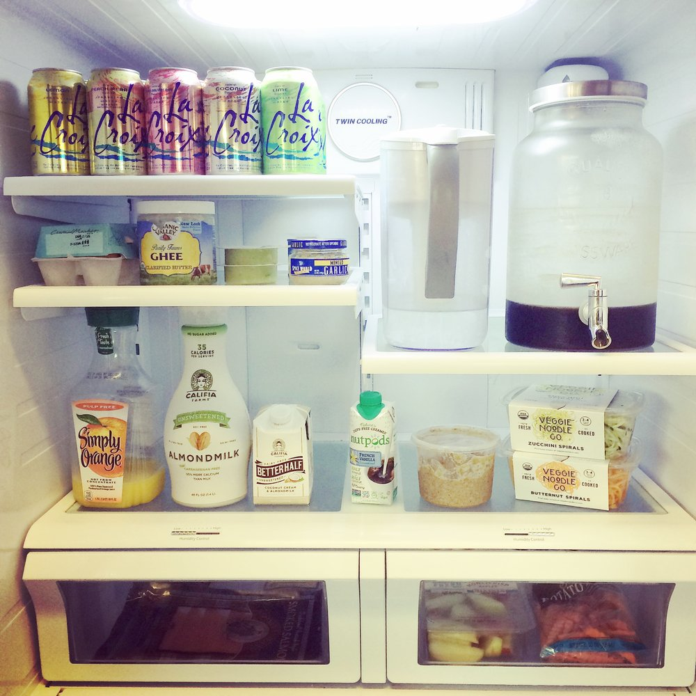 Whole30 fridge organization