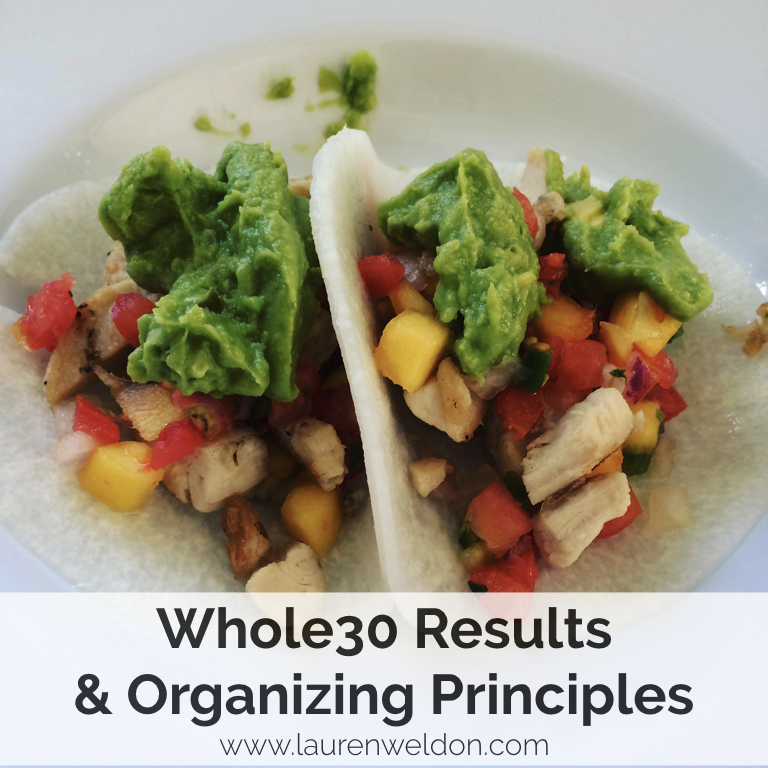 Whole30 Results & Organizing Principles