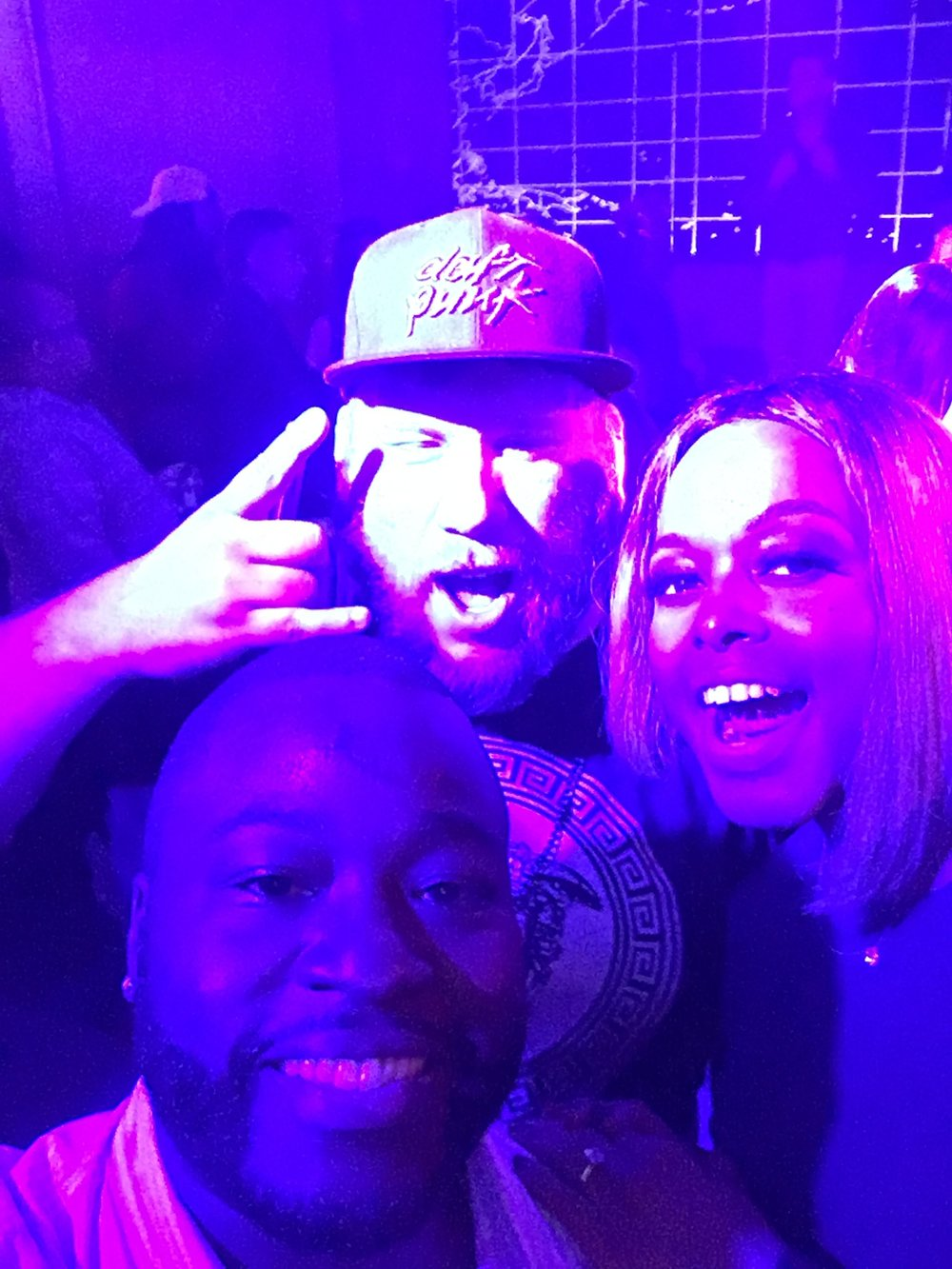 DJ PHNM was the cheeriest! The Daft Punk fitted says it all! We snapped a pic by our tables before heading to the DJ booth to meet DJ Frank White... One of the illest Bostonian DJ's around!