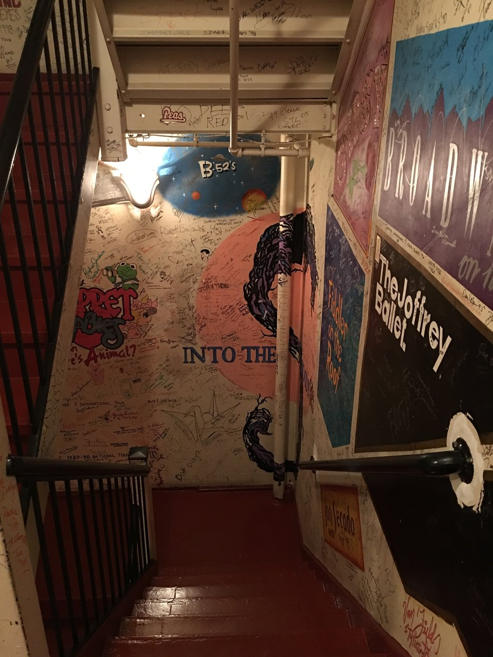 The long staircase leading from my dressing room to the stage at the gorgeous Fox Theatre in Detroit