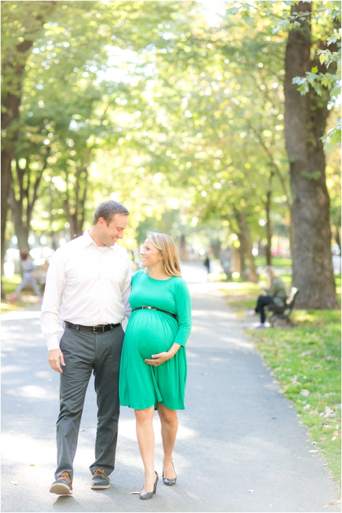 A Back Bay maternity session by Deborah Zoe Photography.