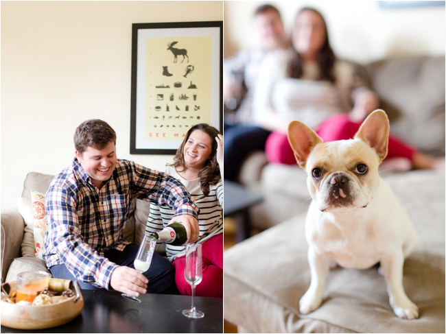 An at home engagement session by Deborah Zoe Photography.