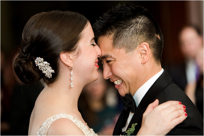 An elegant New Years Eve wedding on Boston Harbor by Deborah Zoe Photography.