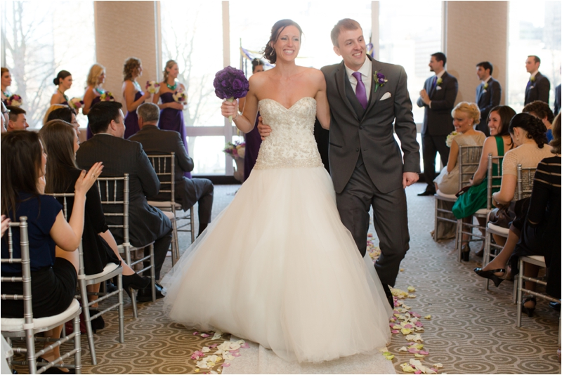 Ceremony for a Royal Sonesta Boston wedding.