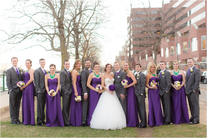Spring wedding Bridal Party photographed by Deborah Zoe Photography