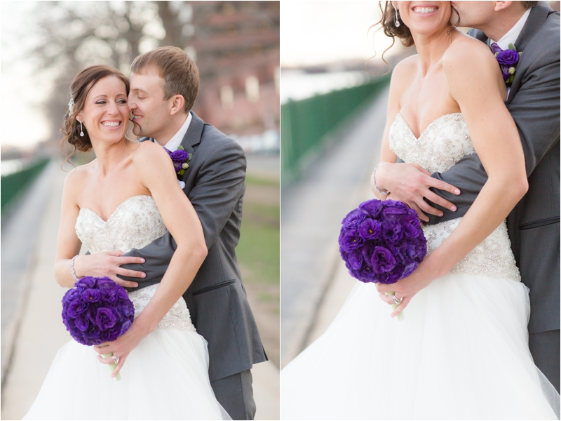 Bride and Groom on their spring wedding day in Boston photographed by Deborah Zoe Photography.